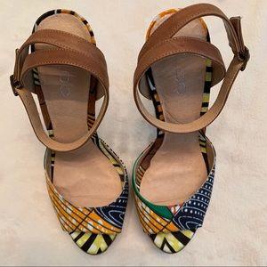 Aldo Shoes - Aldo African Print Woven Platform Spiked Heel!